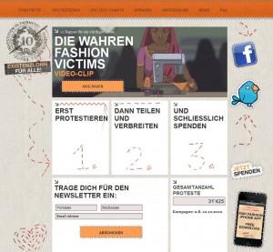 Die Kampagnenwebsite der Erklärung von Bern