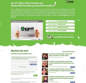 Die Kampagnenseite von umweltfreundlich-waehlen.de