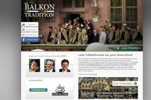 Die Internetseite von »Der Balkon ist Tradition«