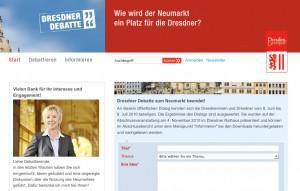 Die Internetseite der »Dresdner Debatte«