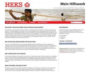 Die Kampagnen-Webseite des HEKS