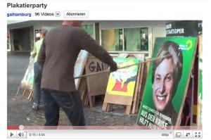 YouTube-Video der Plakatierparty