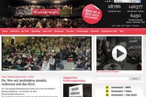 Internetseite der Studentenproteste